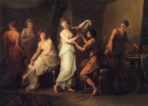 Ο Ζεύξις επιλέγει τα μοντέλα του για τον πίνακα «Η Ελένη της Τροίας»