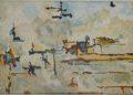 Βερβέρης Τάκης, Αιωρήσεις, 45x70cm, Ακρυλικό σε καμβά