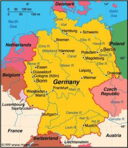 Χάρτης Γερμανίας