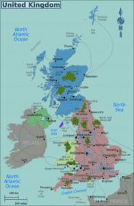 Χάρτης Αγγλίας