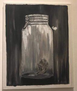 Άννα Κουνάδη - Anna Kounadi, Εγκλωβισμένη - Isolated, 45x35cm, Λάδι σε καμβά - Oil on canvas