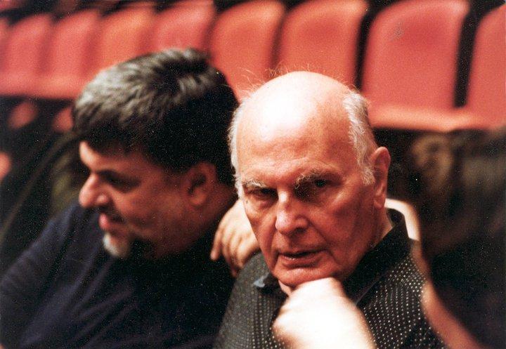 Ο Βασίλης Νικολαΐδης με τον διεθνούς φήμης Έλληνα σκηνογράφο, ενδυματολόγο και ζωγράφο Νίκο Γεωργιάδη