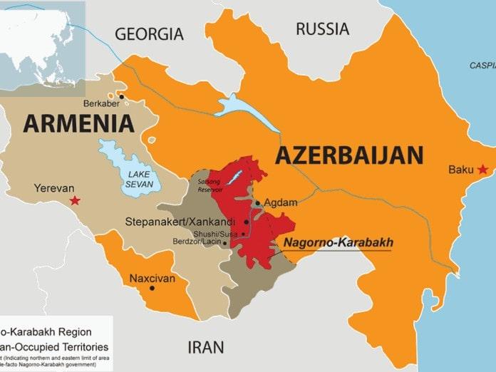 χάρτης Ναγκόρνο Καραμπάχ